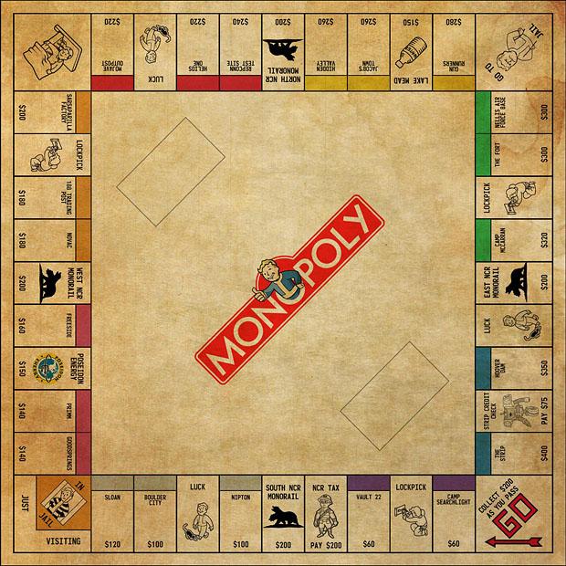Fallout Monopoly Board