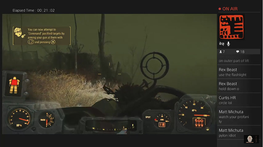 Fallout 4 PS4 Mods Live Stream