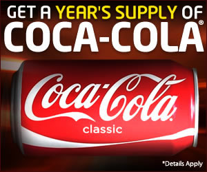 Get a Year's Supply of Coca Cola